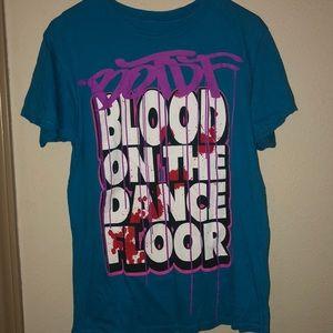 Blood on the dance floor band tee